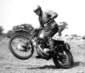 Dave Bickers aboard a Greeves MDS. Photo courtesy of David Kindred